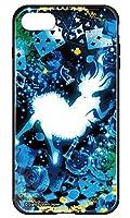 [IPHONE7] ケース 背面強化ガラスケース キャラクター かわいい おしゃれ ゴシック デザイン 3025-C. クリスタルブルーアリス アイフォン7 カバー TPUバンパー 衝撃吸収 9H硬度 スマホカバー ハイブリッド スマホケース スマートフォン