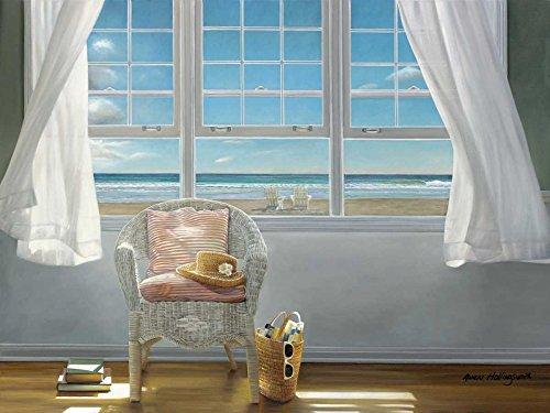 Feeling at home Kunstdruck-auf-Papier-cm_53_X_70-Hollingsworth-Karen-Küsten-Bild-Poster-Küstenstrände-Stühle-Kappen-Interiors-Ozean