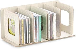 Nai-storage Estante Disco de Vinilo LP de Almacenamiento, Caja de Almacenamiento de Madera, CD/Libro/CD/DVD/Periódico El E...