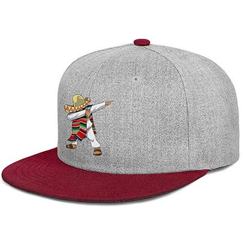AIKYAN Mexican Flag Poncho Dabbing Cinco Flatbrim Hip Hop Baseball Caps Adjustable Fishing Hat