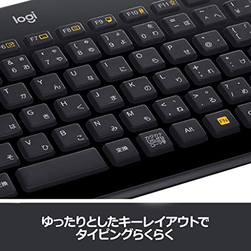 『ロジクール ワイヤレスキーボード K360r キーボード ワイヤレス 静音 無線 薄型 小型 テンキー付 Unifying 国内正規品 3年間無償保証』の2枚目の画像