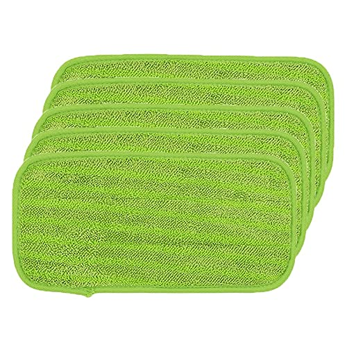 QJWGJA 5 unids Limpieza Lavable Padping Pad Pags para Swiffer Wetjet Sweeper Seco Húmedo Piso MOP Papas Piezas DE REEMPLAZO Accesorios (Color : 5 Green)