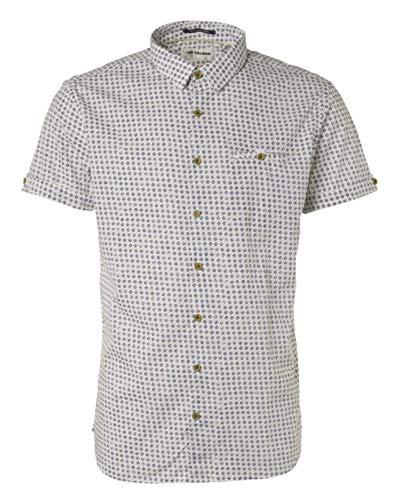 NO EXCESS Shirt, s/sl, ao Printed, Stretch, m, weiß(White (010)), Gr. XL