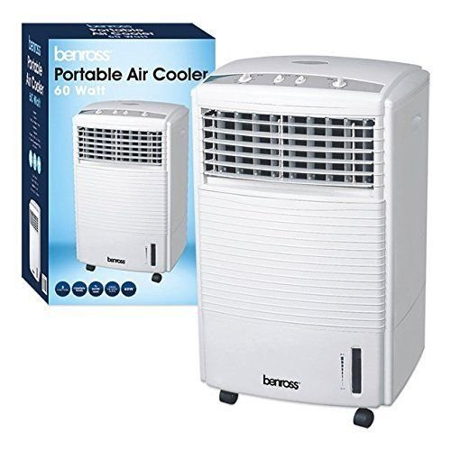 PORTABLE WATER EVAPORATIVE 3 SPEED OSCILLATING FAN AIR COOLER COLD WITH TIMER...