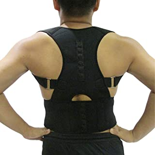 Magnetic Posture Therapy Corrector, LIANTH Posture Corrective Back Brace for Men & Women | Lumbar Pain Relief | Shoulder & Back Support Belt