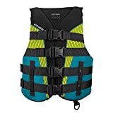 O'Neill Women's SuperLite USCG Life Vest, Black/Turquoise/Lime/Turquoise,X-Large