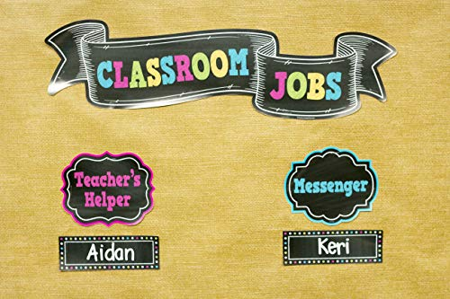 Teacher Created Resources Chalkboard Brights Classroom Jobs Mini Bulletin Board (TCR5653) Photo #4