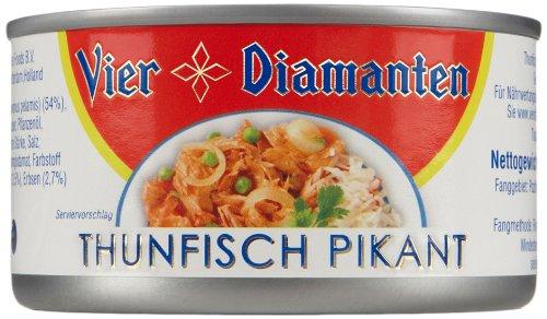 Vier Diamanten Thunfisch Pikant (Dressing), 4er Pack (4 x 185 g)