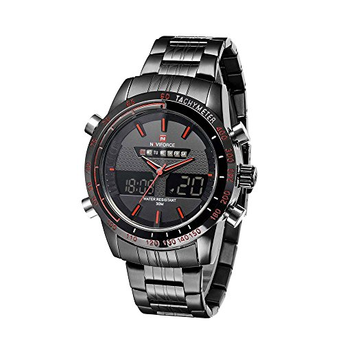 Naviforce Montre Homme Digital Quartz Analogique