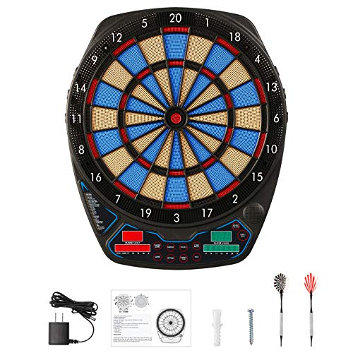 OLI Electronic Dart Board for Adults with Scoring, Featuring LED Display, Darts Storage, 173 Variations for up to 8 Players
