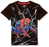 Spiderman By Kidsville Boy's Plain Regular fit T-Shirt (STY-18-19-005905 Black 3-4 Years)