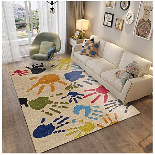 Cartoontapijt voor woonkamer, bijzettafel, voor kinderen, klimmen, slaapkamer, compleet met anti-slip deken voor het wassen