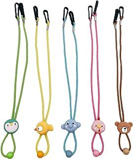?5 Pack?Kids Cartoon Style- Elastic Flower Face Mask Lanyard Adjustable Length Straps - Floral Badge Holder with Clips for...