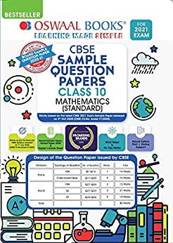 Oswaal CBSE Sample Question Paper Class 10 Mathematics Standard Book (Reduced Syllabus for 2021 Exam) by [Oswaal Editorial Board]