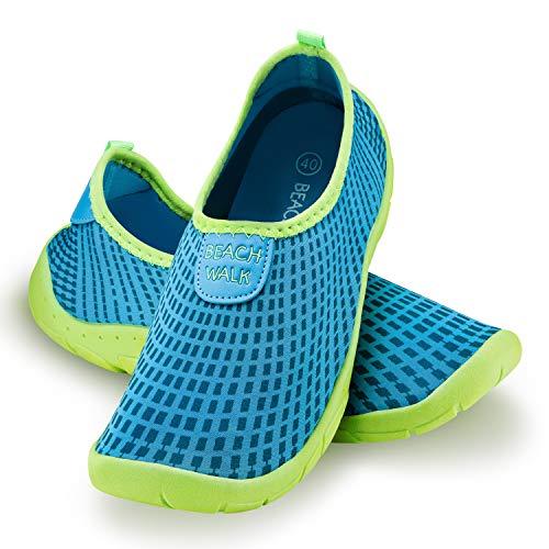 Ultrapower UV Badeschuhe Mädchen Jungen,Multifunktionsschuhe für Kinder,Swim Shoes Kids,Schwimmbadschuhe geschlossen,Aquaschuhe,Baden,Gr.36,Blau