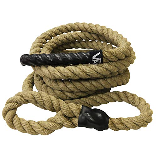Valor Fitness CLR-25 Sisal Climbing Rope for Cross Training Workout Rope Fitness Ropes Exercise for Gym, 25' Long