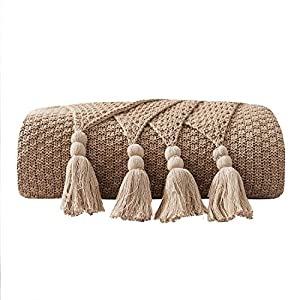 100% cotton Knitted throw blanket measure 50x60inches, baby soft and light Package contain: a throw blanket No pilling,machine wash with washing bag Just like a warm embrace when it is wrapped with you