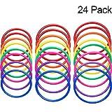 Hestya 24 Pezzi Anelli di Lancio in Plastica Multicolore per la velocità e l'Agilità Gio...