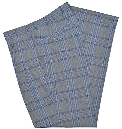「僕たちがやりました」で着用サマースラックスSKRB20S2 グレー×紺・サックスチェック W70・73・76・79・82・85・88・91・95ツータックスリム KURI-ORI[クリオリ] seifuku summer pants (W91)