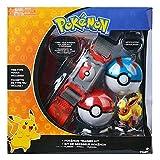 anzhcz Kit De Entrenador De Pokemon Flareon Pyroli Flamara Figura Bolsa Tipo Fuego Poke Balls...
