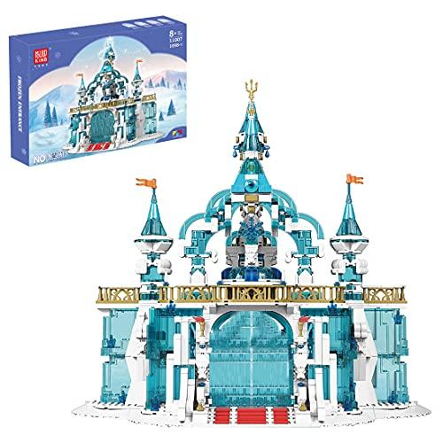 PLEX Castillo princesa 1098 piezas kit de construcción compatible con Lego Disney Princess Frozen