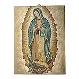 Holyart Cuadro sobre Tela pict?Rica Virgen de Guadalupe 40x30 cm
