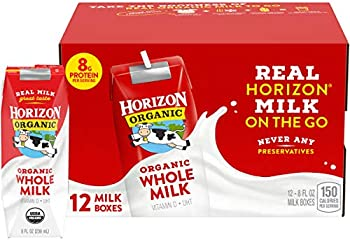 12-Pack Horizon Organic Whole Milk Single, 8 Fl Oz