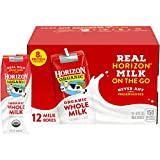 Horizon Organic Whole Milk Single, 8 Fl Oz (Pack of 12)