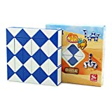 MZStech Serpente Magico Twist Puzzle Twisty Collezione Gioielli 36 Cunei Righello Magico Blu