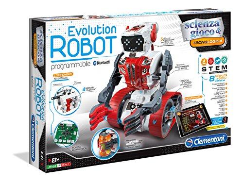 Clementoni - 19034 - Scienza e Gioco - Evolution Robot - Made in Italy - Robot educativo Giocattolo Bambini 8 Anni+, Gioco scientifico (Versione in Italiano)