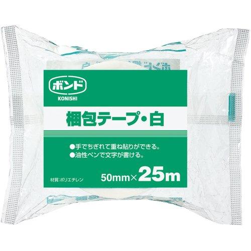 コニシ ボンド 梱包テープ 幅50mm×長25m 白 #67919