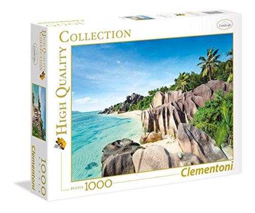Clementoni- Paradise Beach Puzzle 1000 Piezas Playa Paraiso, Multicolor, pezzi (39413.5)
