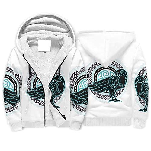 Sudadera con cremallera delantera para hombre, de forro polar, con capucha, para regalo de cumpleaños, color blanco, 2 m