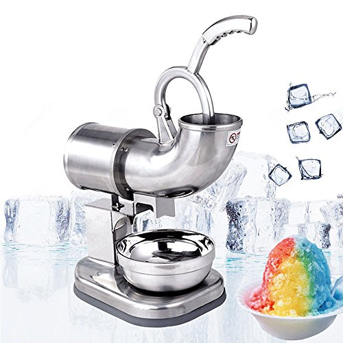 Zorvo Commercial Ice Shaver Industrial Quality 400lbs/h Stainless Ice Shaver Machine Snow Cone Maker Shaved Icee Electric Crusher Electric Snow Cone Maker(Shipping from US)