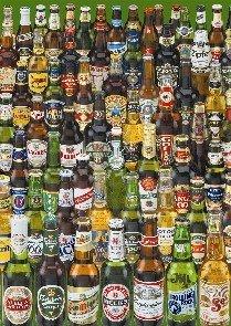 Educa Borras - Genuine Puzzles, Puzzle 1.000 piezas, Cervezas (12736)