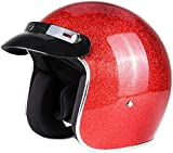 Casco Moto Mezzo Casco Casco Aperto ECE DOT Cruiser Chopper Sicurezza Skateboard Cappuccio Anticollisione Casco Jet Pilota Casco Adulto A Sgancio Rapido,G-XXXL=(65~66cm)