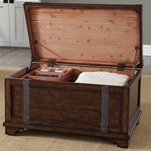 Liberty Furniture Industries Aspen Skies Storage Trunk, W38 x D23 x H20, Medium Brown