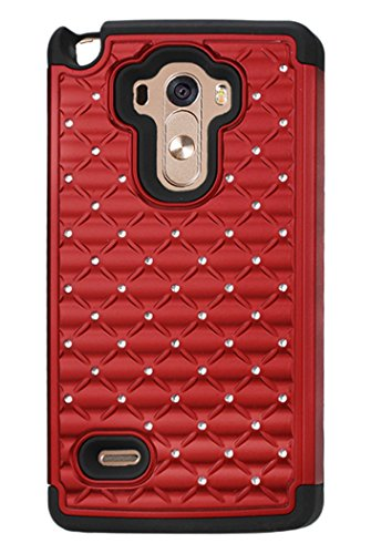 Reiko Carrying Case for LG G Stylo, LG LS770, LG G4 - Retail Packaging - Black/Red