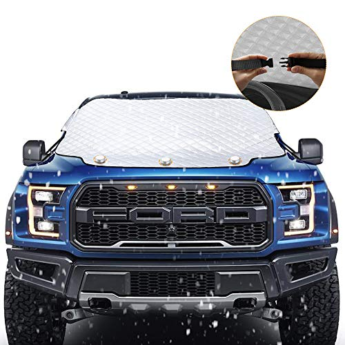 2019 Upgraded Magnetic Car Windshield Snow Cover for SUV. 4 Layers, Waterproof, Soft Scratch-Free,...