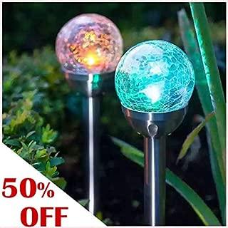 Grand patio Landscape Path Light 4 Pieces Solar Path Light Color-Changing LED Garden Light for Garden, Yard, Party, Festival Decoration