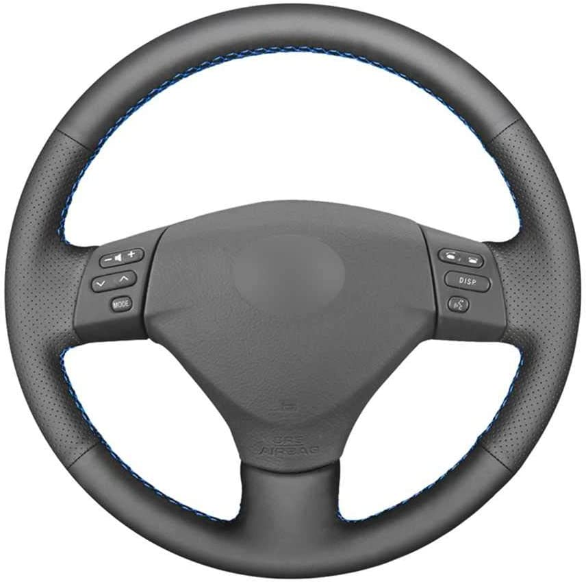 BUQDA Car Finally resale start Hand-Stitched Leather 5 ☆ popular Steering for Fit Cover Wheel Lex
