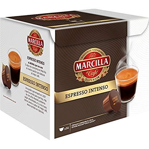 Marcilla Espresso Intenso Cápsulas de café - 3 paquetes x 14 cápsulas - Total: 42 cápsulas
