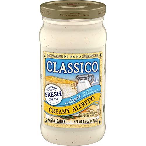 Classico Light Creamy Alfredo Pasta Sauce (15 oz Jar)