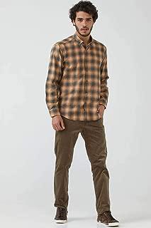Erkek Yakası Düğmeli Kışlık Gömlek - Hardal