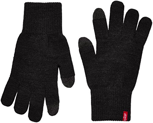 Levi's Ben Touch Screen Gloves, Guantes Hombre, Negro (Black), Medium