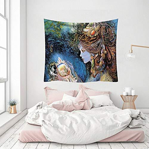 asdas Wandteppich, Bergwald, Sonne, abstrakte Wandmontage, 3D-Druck, mythische Landschaft, Polyester, geeignet für Schlafsaal, Wohnzimmer und Bett