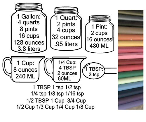 Kitchen Conversion Measuring Cups Charts by Walls with Style (OTHER COLOR)