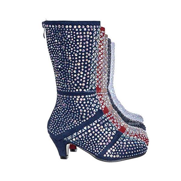 Aquapillar Kids Rhinestone Crystal Glitter Bootie – Girls Shimmering Dress Shoes