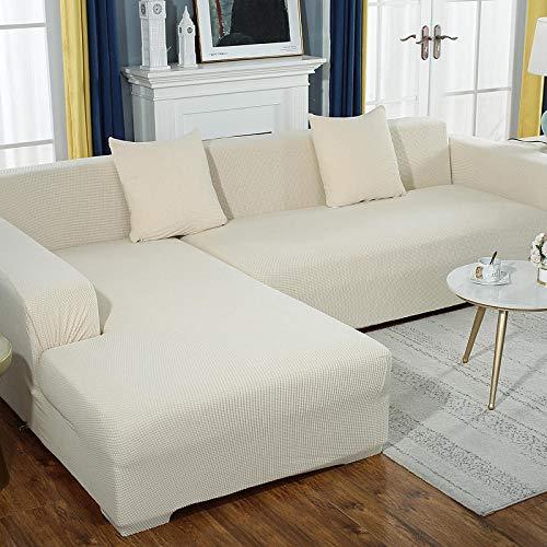 lxylllzs Sofa ÜBerwurf Stretch Sofabezug,Vier-Jahreszeiten-Stretch-Sofabezug, All-Inclusive-Universal-L-förmiger Sandauslöser 6_305-360 cm,Sofabezug FüR Sofa, Sofaschutz