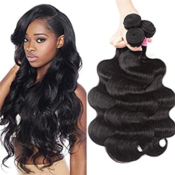 UNice Hair Malaysian Body Wave 3 Bundles 100% Unprocessed Virgin Human Hair Weave Extensions Natural Color 95-100g/pc  20 22 24 inches